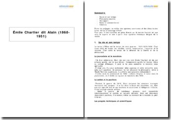 Emile Chartier dit Alain (1868-1951)