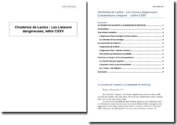 Choderlos de Laclos, Les Liaisons dangereuses, lettre CXXV