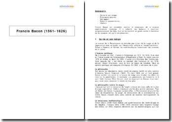 Biographie de Francis Bacon (1561-1626)