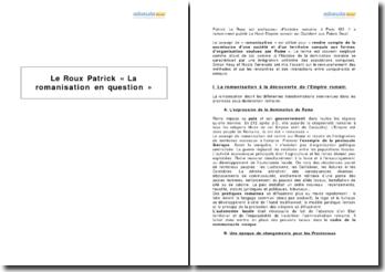 Le Roux Patrick, « La romanisation en question »