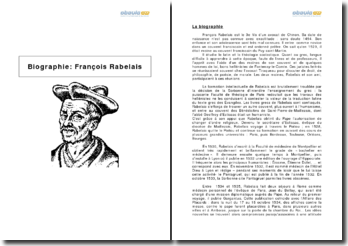 Biographie: François Rabelais