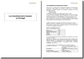Les investissements français au Portugal