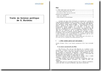 Traité de Sciences politiques, G. Burdeau