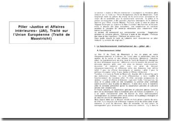 Pilier « Justices et Affaires intérieures » (JAI), Traité sur l'Union Européenne (Traité de Maastricht)