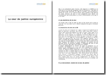 La Cour de Justice européenne