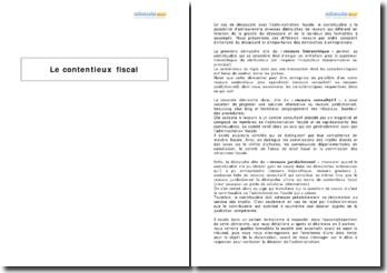 Le contentieux fiscal, réclamation et contestation (2010)