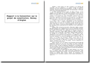Rapport à la Convention sur le projet de constitution, Boissy d'Anglas