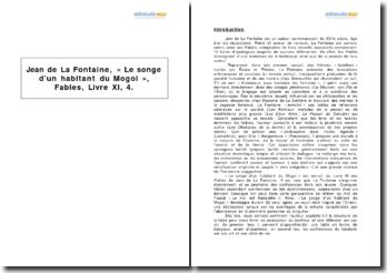 « Le songe d'un habitant du Mogol », Fables, Livre XI, 4, Jean de La Fontaine
