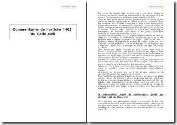 Article 1402 du Code civil - la présomption légale de communauté des biens
