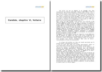 Candide, chapitre 6, Voltaire