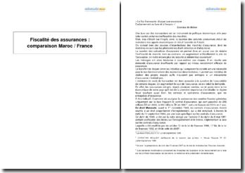 Fiscalité des assurances: comparaison Maroc / France