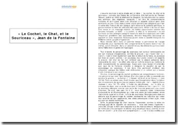« Le Cochet, le Chat, et le Souriceau », Jean de la Fontaine