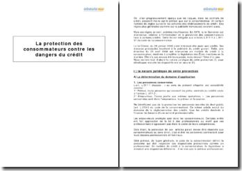 La protection des consommateurs contre les dangers du crédit
