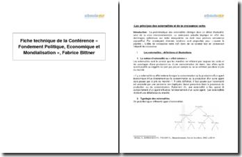 « Fondement politique, économique et mondialisation », conférence de Fabrice Bittner