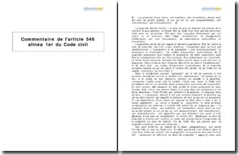 Code civil, article 546 alinéa 1er - les modes d'acquisition automatiques de la propriété