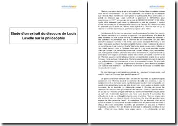 Sur la philosophie, Louis Lavelle