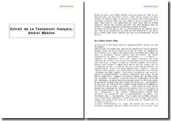 Extrait de Le Testament français, Andreï Makine