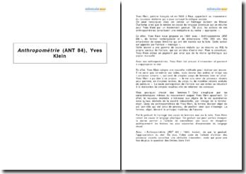 Anthropométrie (ANT 84), Yves Klein