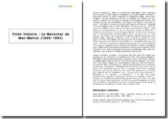 Le Maréchal de Mac-Mahon (1808-1893)