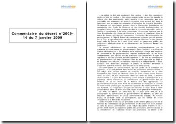 Décret nº2009-14 du 7 janvier 2009 - fonction et mission du commissaire du gouvernement au sein du procès administratif