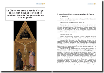 Le Christ en croix avec la Vierge, saint Jean l'évangéliste et le cardinal Juan de Torquemada, Fra Angelico