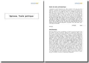 Traité politique, Spinoza