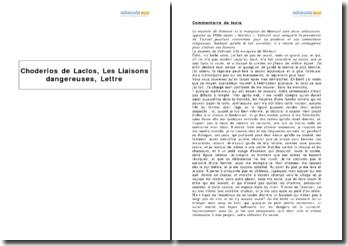 Les liaisons dangereuses, Choderlos de Laclos - lettre XXI