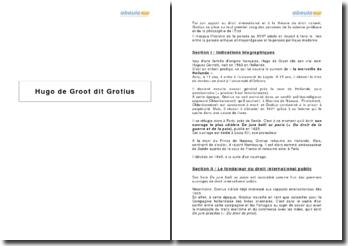 Hugo de Groot dit Grotius