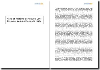 Race et histoire, Claude Lévi-Strauss