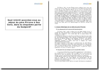 Le Guépard, Giuseppe Tomasi di Lampedusa - Ve partie, le séjour du père Pirrone à San Cono