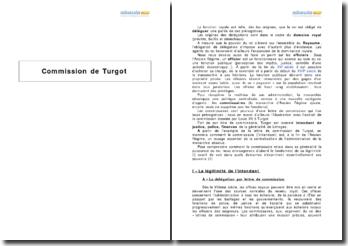 La lettre de commission de Louis XV à Turgot - le rôle de l'intendant à la fin de l'Ancien Régime