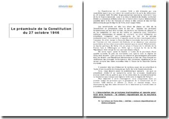 Le préambule de la Constitution du 27 octobre 1946