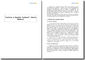 Lettres à Sophie Volland, Denis Diderot