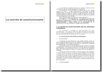 Le contrôle de constitutionnalité et le juge constitutionnel