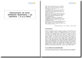 Étude comparée - Quand vous serez bien vieille Ronsard (1578) et Adieu, Guillaume Apollinaire (1915)