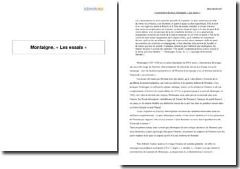 Les essais, Michel de Montaigne