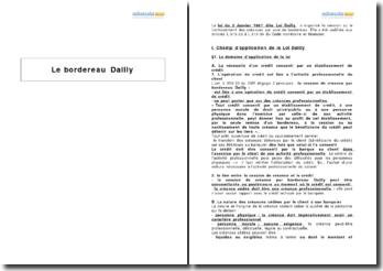 Le champ d'application de la loi Dailly et les conflits liés à la mobilisation des créances