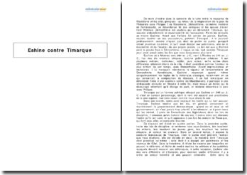 L'exorde d'Eshine contre Timarque
