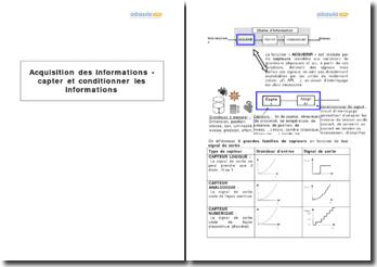 Acquisition des informations - capter et conditionner les informations