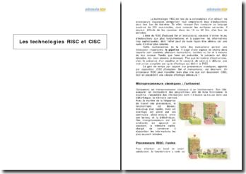 Les technologies RISC et CISC