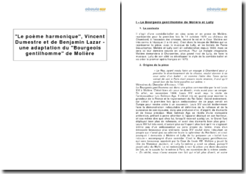 Le poème harmonique, Vincent Dumestre et de Benjamin Lazar - une adaptation du Bourgeois gentilhomme de Molière