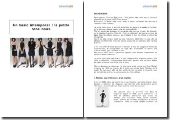 Un basic intemporel : la petite robe noire
