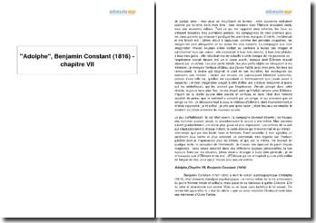 Adolphe, Benjamin Constant (1816) - chapitre VII
