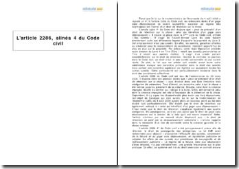 L'article 2286, alinéa 4 du Code civil