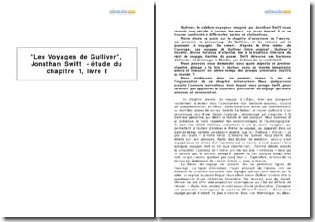 Les Voyages de Gulliver, Jonathan Swift - étude du chapitre 1, livre I