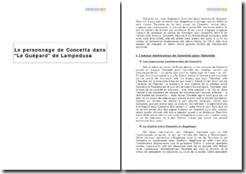 Le personnage de Concetta dans Le Guépard de Lampedusa