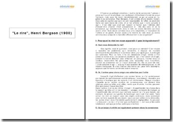 Le rire, Henri Bergson (1900)