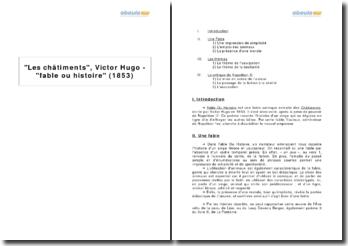 Les châtiments, Victor Hugo - fable ou histoire (1853)