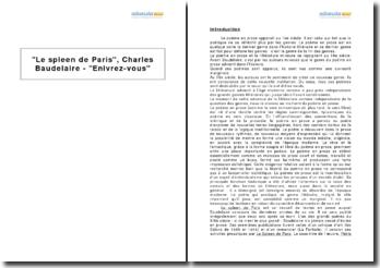 Le spleen de Paris, Charles Baudelaire - Enivrez-vous