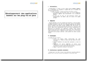 Développement des applications basées sur les plug-ins en java